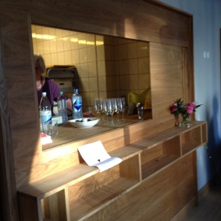 The newly renovated bar at our meeting location in Frogner Church Assembly Room