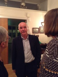 A suprise visit from former ANS chairman Stephen Constant at the party 7.9