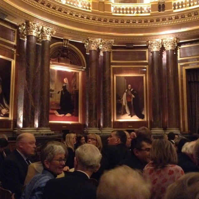 Draper's Hall - waiting for the concert to begin