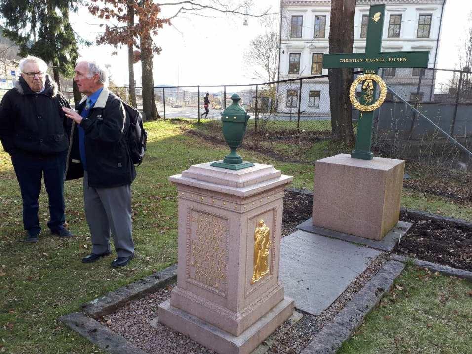 Christian Magnus Falsen's grave at Gamlebyen Cemetery