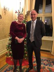Hanne and Ambassador Richard Wood